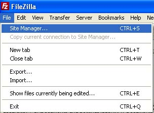 Filezilla Filemanager